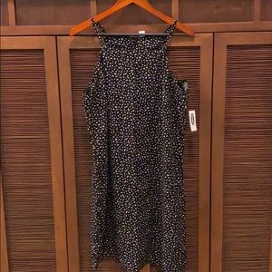 Black Animal Print Mini Dress